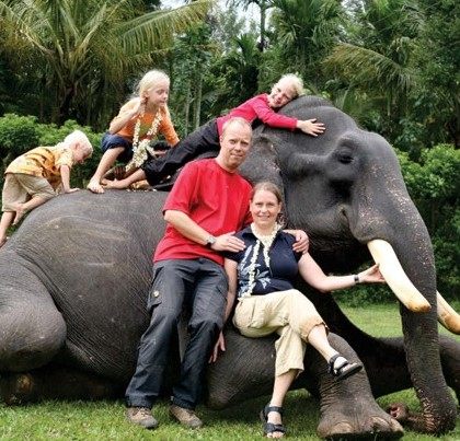 Kids Vacation Elephant Ride GIAW KeralaToursGlobal1