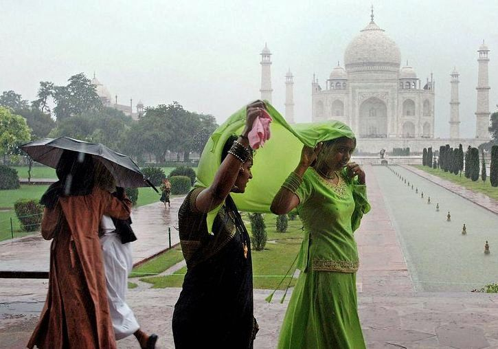 Taj Mahal in Monsoon KeralaToursGlobal1